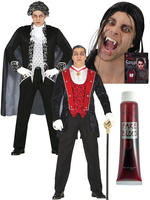 Men's Vampire Costume & / or Fangs & Blood