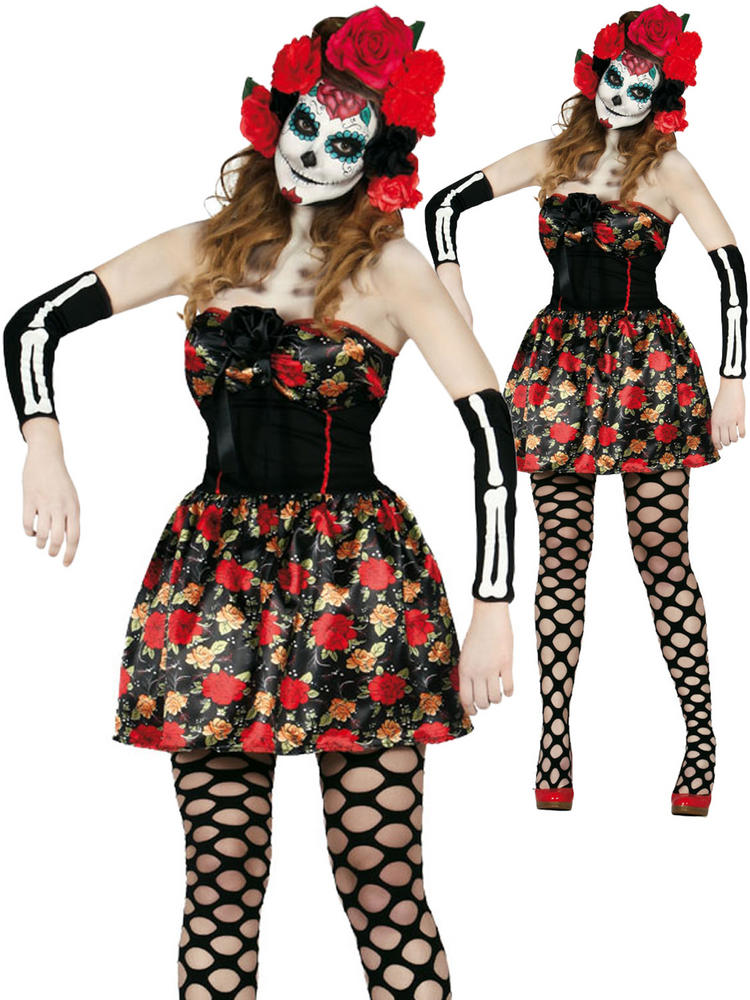 Ladies Catrina Day Of The Dead Costume