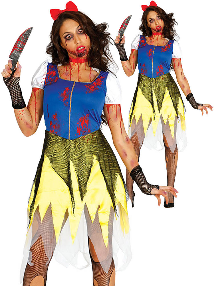 Ladies Zombie Snow Princess Costume