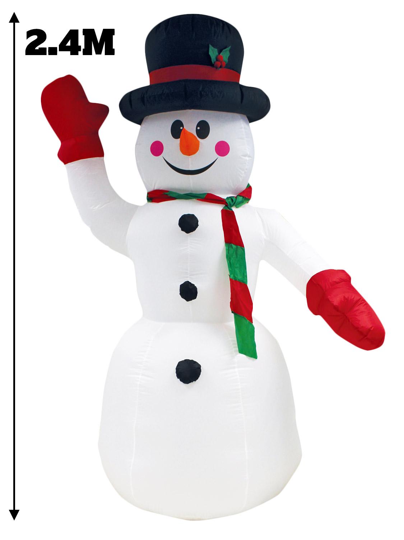 #8B0B15 8 Ft (environ 2.44 M) Géant Gonflable Décoration De Noël  6896 deco de noel exterieur gonflable 1125x1500 px @ aertt.com