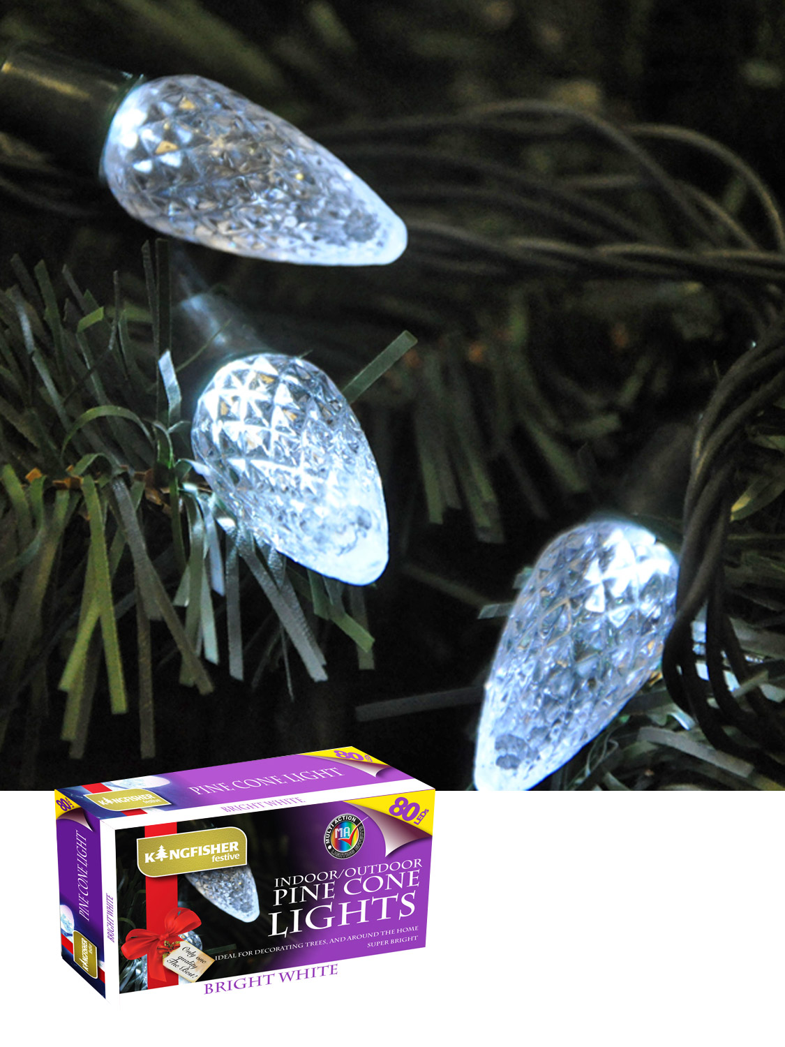 Fairy Lights String Christmas Xmas Indoor Outdoor 80 LED