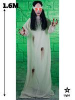 1.6m Light Up Zombie Woman Prop