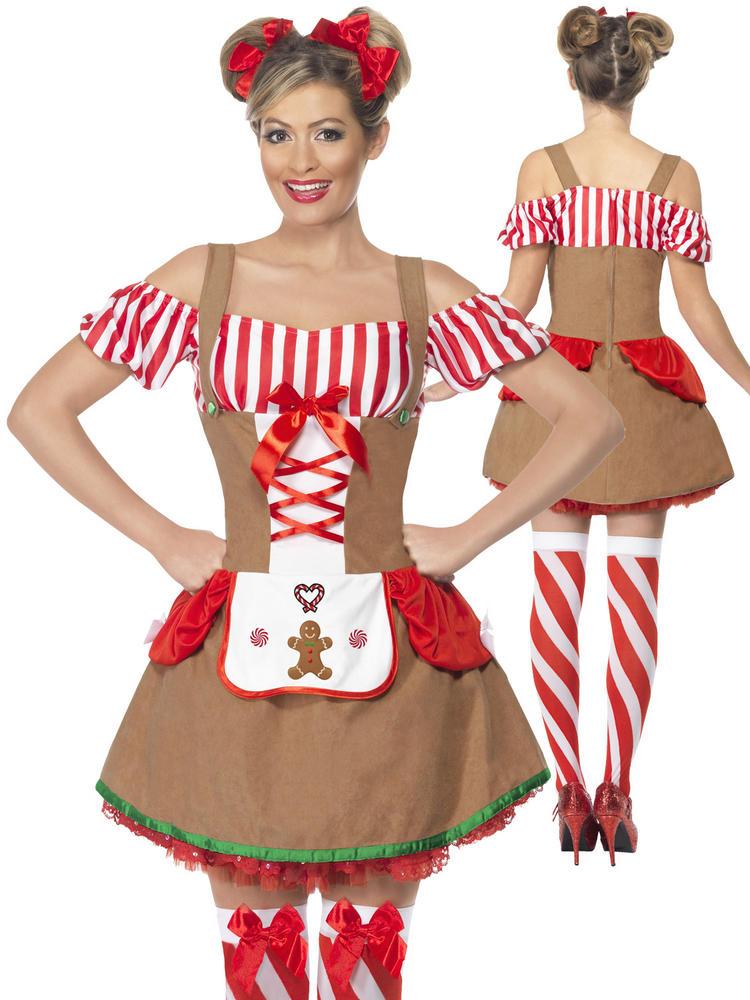 Ladies Gingerbread Woman Costume