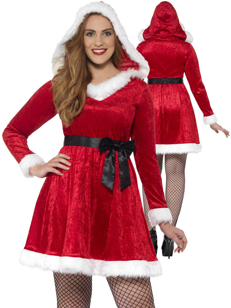 Ladies Curves Miss Santa Costume