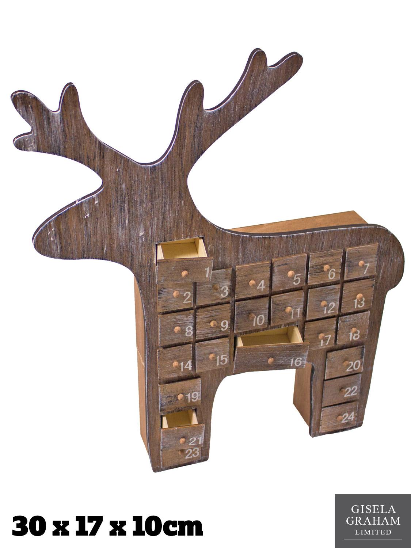 Gisela graham de madera calendario de adviento navidad - Calendario adviento madera ...