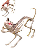 Animated Skeleton Cat Prop