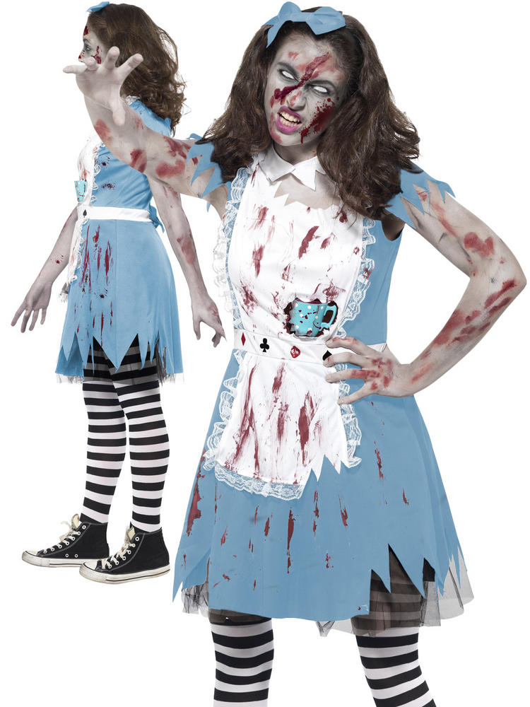 Ladies Zombie Tea Party Costume