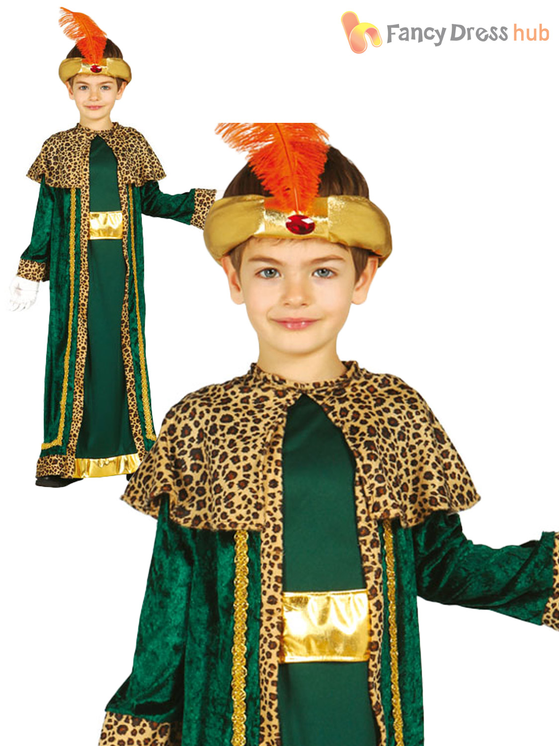 Wise men costume childs christmas king nativity fancy dress kid xmas