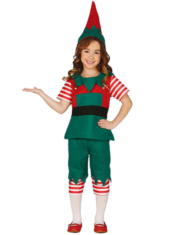 Girls Little Elf Costume Childs Christmas Fancy Dress ...