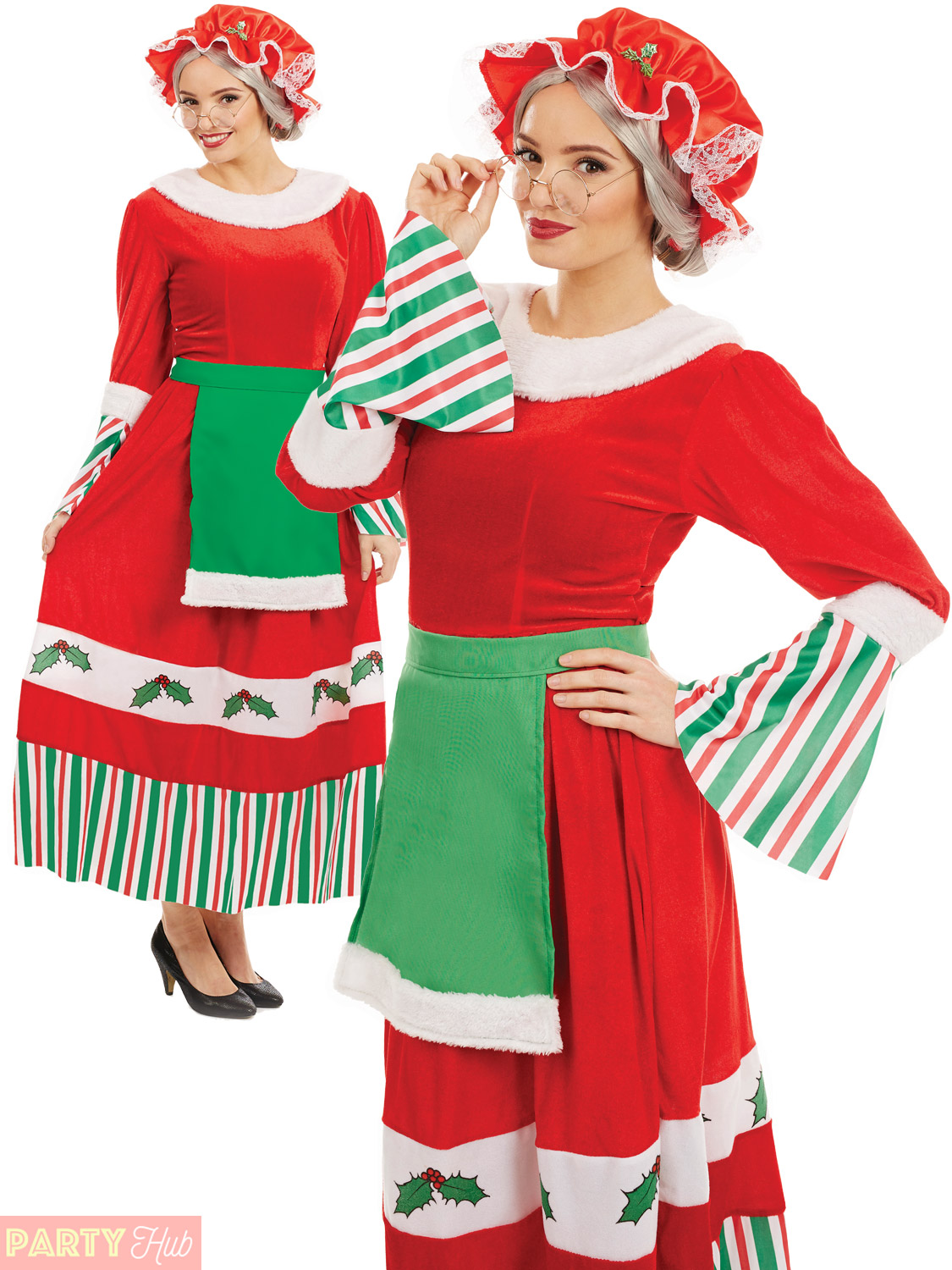 Ladies mrs santa claus costume traditional womens father