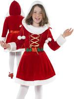Girl's Little Miss Santa Costume