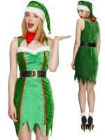 Ladies Fever Naughty Elf Costume