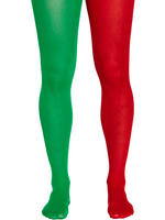 Men's Red & Green Christmas Tights