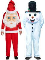 Child's Christmas Jumbo Face Costume