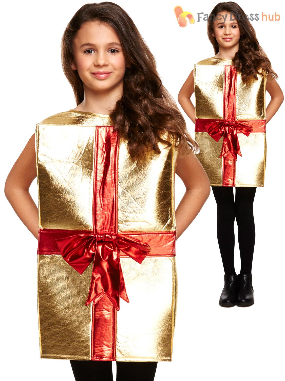 Childs Christmas Present Costume Boys Girls Xmas Gift Fancy Dress ...