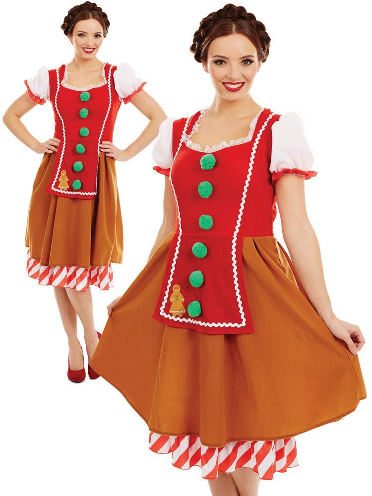 Ladies Miss Gingerbread Costume