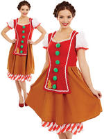 Ladies Miss Gingerbread Costume