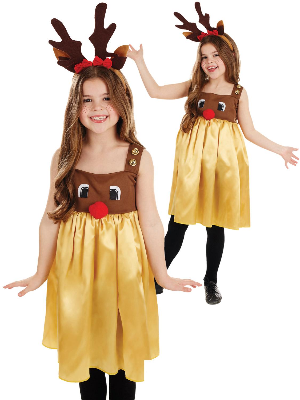 Girl's Little Miss Rudolph Costume   All Children