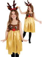 Girl's Little Miss Rudolph Costume