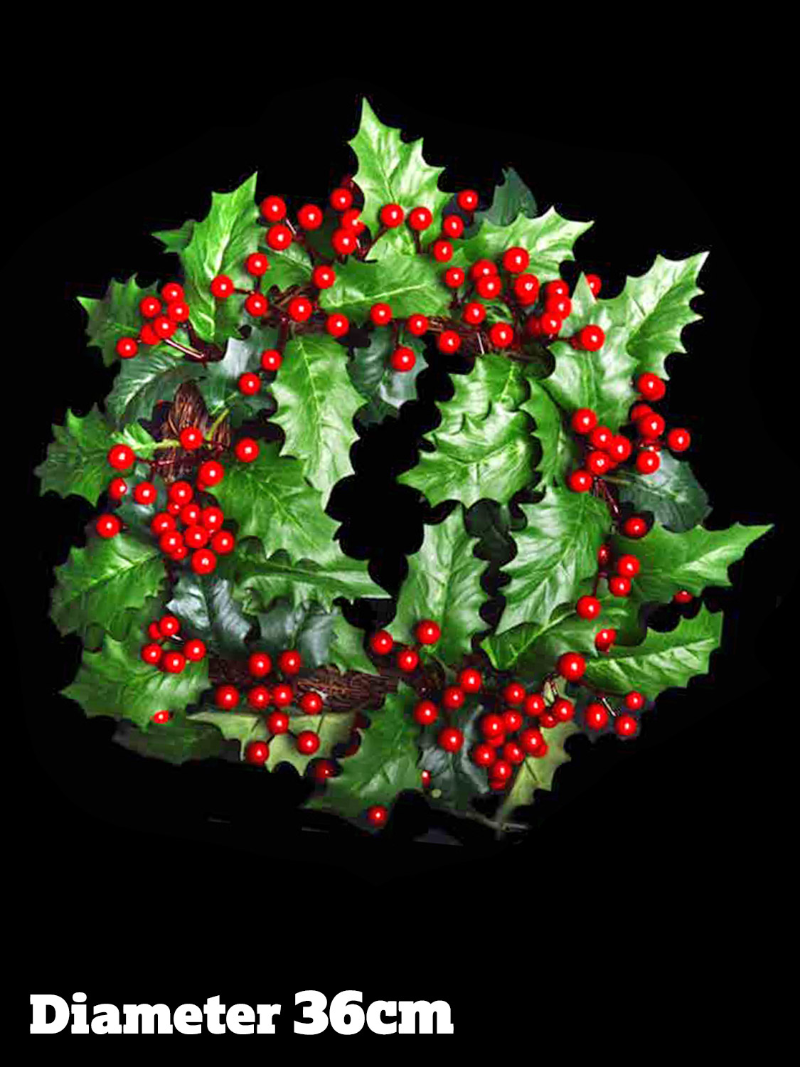 Christmas garland holly leaf berry wreath decoration door