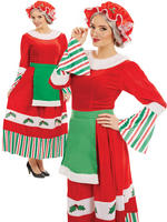 Ladies Traditional Mrs Claus Costume