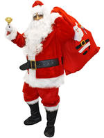 Men's Deluxe 12 Piece Father Christmas Costume - X-Large / Xx-Large