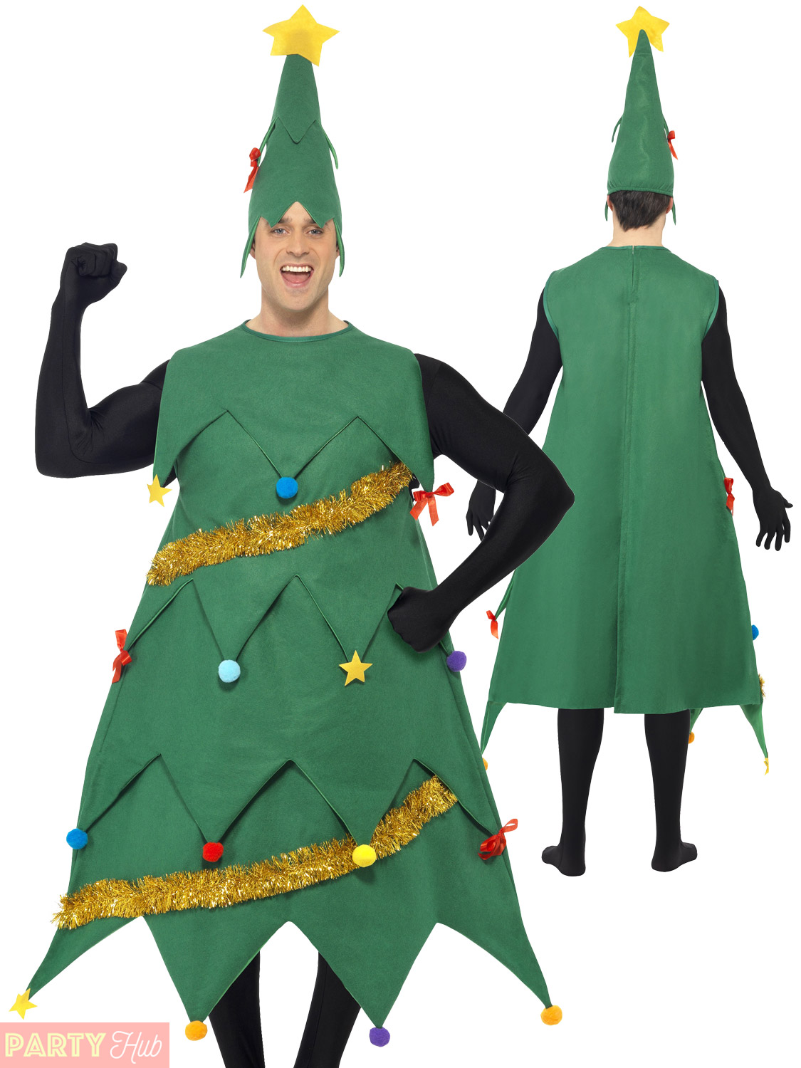 Adults deluxe christmas tree costume mens ladies xmas