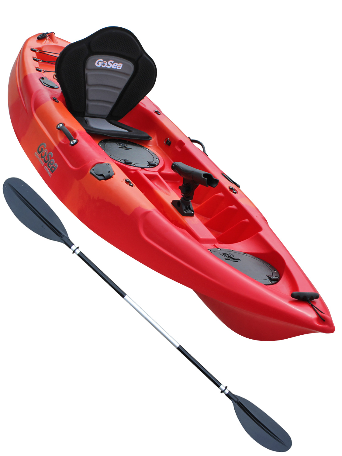 Sit on top fishing kayak single ocean sea surf river canoe for Used fishing kayak