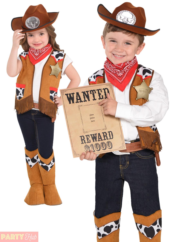 childs cowboy costume boys western fancy dress