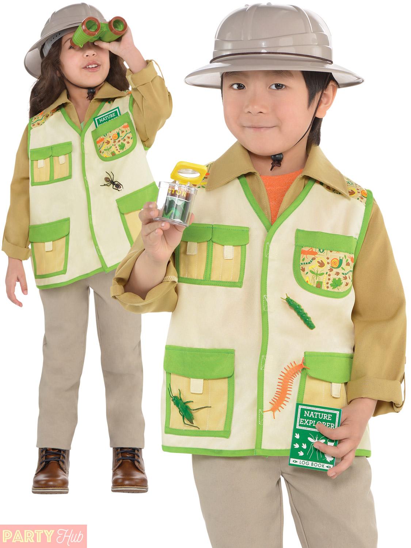 Child Jungle Explorer Costume Boys Girls Safari Fancy Dress Book Week Zoo Keeper | eBay