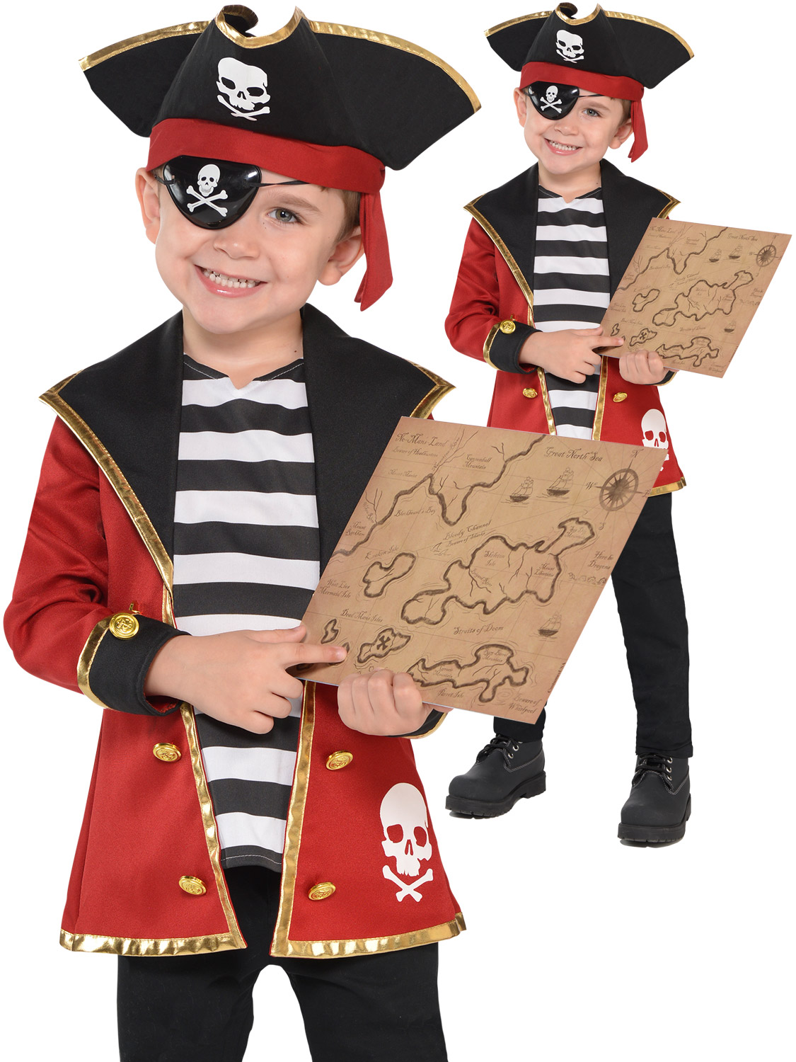 MENS / WOMENS PIRATE FANCY DRESS COSTUMES ONE SIZE FITS ALL DESIGN FANCY DRESS ADULT CARIBBEAN PIRATE XL FITS TO A 48