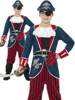 Boy's Deluxe Pirate Captain Costume