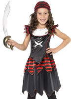 Girl's Pirate Skull & Crossbones Costume