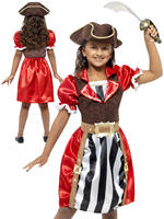 Girl's Pirate Captain Costume