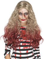 Ladies Deluxe Zombie Blood Drip Wig