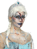 Ladies Zombie Frozen Wig