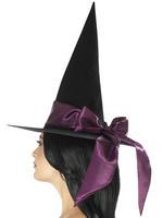 Ladies Deluxe Purple Witch Hat