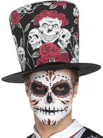 Day of the Dead Rose Top Hat