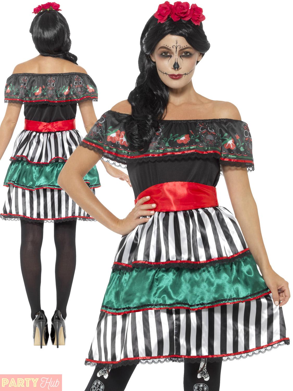 Ladies Day Of The Dead Senorita Doll Costume Women