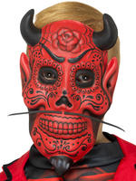 Boy's Day of the Dead Devil Mask
