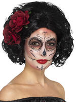 Ladies Day of the Dead Short Wig
