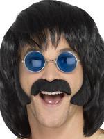 Men's Black Hippy Disguise Set