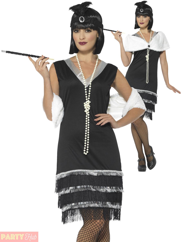 ladies 1920s flapper costume adults charleston fancy dress. Black Bedroom Furniture Sets. Home Design Ideas