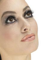 Silver Glitter Top & Bottom Eyelashes