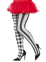Ladies Harlequin Plus Size Tights