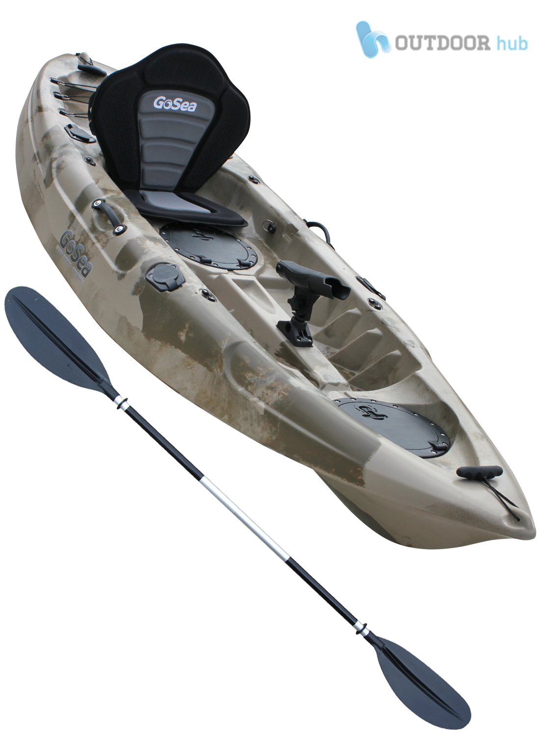 Sit on top fishing kayak single ocean sea surf river canoe for Best sit on top fishing kayak