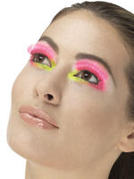 80s Neon Pink Party Eyelashes