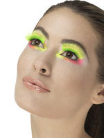 80s Neon Green Party Eyelashes