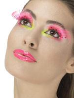 80s Neon Pink Polka Dot Eyelashes