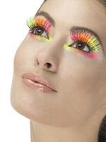 80s Neon Multi-Coloured Polka Dot Eyelashes